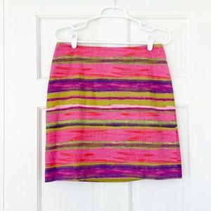 ANN TAYLOR skirt size 6 pink purple cotton blend